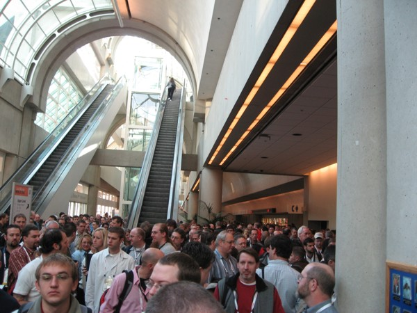 Crowd outside of General Session, South