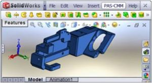 Solid Works Model converted automatically from Solid Works menu to CMM programming