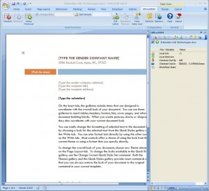Office2PDM interface in Word