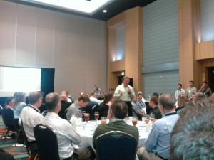 Ray pounding the pavement at a Reseller lunch