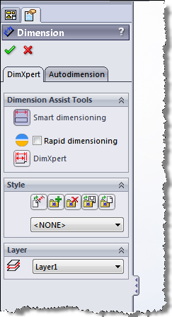 Rapid Dimension toggle