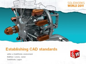 Establish CAD Standards within SolidWorks environment