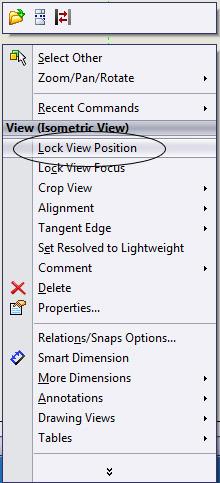 Lock View Position - Shortcut menu