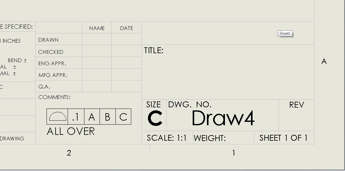 solidworks drawing template tutorial - how to add a geometric tolerance frame to your sheet