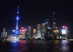 Shanghai iconic skyline