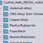 ctopher custom materials for SOLIDWORKS