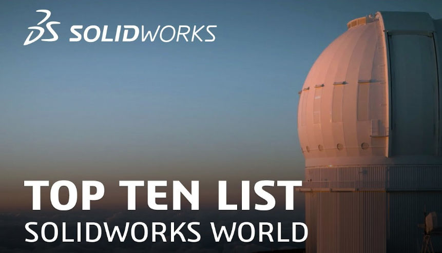 SOLIDWORKS World Drawings Top Ten  implementation to-date (2011-2013)